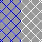 Sportec Voetbaldoelnet P-model 7,5 X 2,5 Mtr (4mm) Blauw/wit