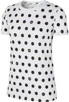Nike Nsw Polka Dot Dames T-shirt - White/Black - Maat M