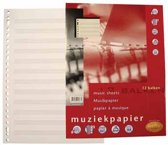 Multo Interieur muziekpapier A4- pak 50 vel - 100 gram - 23-gaats