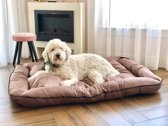 Meisterpet hondenbed / hondenmand - Donkerbruin- XL (ca 100*85*20 cm) W02 XL Donkerbruin
