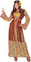 Lange hippiejurk met franjes voor vrouwen - Volwassenen kostuums