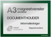 Magneetvenster A3 (uitwisbaar) - Groen