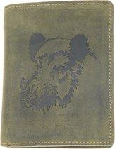 Greenburry - Vintage Animal - portemonnee heren - olijfgroen