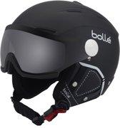 Boll? Backline Visor Premium (all weather) Unisex Skihelm - Soft Black & White / 1 Photochromic Silver Visor - 56-58 cm