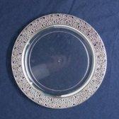 Deluxedisposables - Luxe wegwerp soepbord 19cm transparant-zilver 10st- Inspiration Collectie