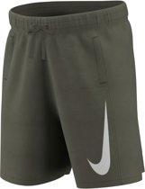 Nike Sportswear Swoosh  Sportbroek - Maat L  - Unisex - donker groen/wit