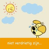 Woezel & Pip Wenskaart: niet verdrietig zijn