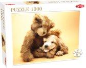 Puppy en Teddy Beer - Legpuzzel - 1000 Stukjes