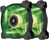 Corsair Air SP120 Static Pressure Edition - Groen LED (duo pack)