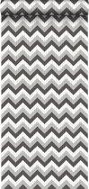 HD vliesbehang zigzag zwart en grijs - 138138 ESTAhome.nl