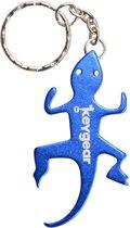 Keygear Flessenopener Sleutelhanger Iguana 8 Cm Blauw