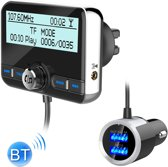 DAB002 Auto DAB Dual USB Opladen Smart Bluetooth Digitale Fm-zender Mp3-speler Car Kit, Ondersteuning Handsfree Call & Tf-kaart
