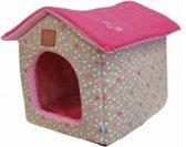 Lief! Huis Girls - Hondenmand - Beige/Roze - 52 x 45 x 41 cm