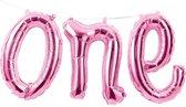Folieballon 'One' Roze