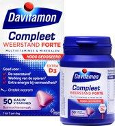 Davitamon Compleet Weerstand Forte - Multivitaminen en mineralen - Kauwtabletten 50 stuks