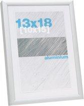 Deknudt Frames Fotokader S024D1 in zilverkleurig aluminium - fotomaat 13x18 cm