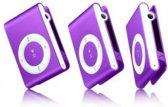 Mini MP3 speler met in-ear koptelefoon Paars