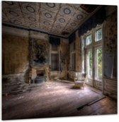 Hotel Rouge - Plexiglas 70x70 cm - Ivo Sneeuw - PixaPrint - GA00268-1