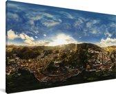 Panorama vanaf de buurt Ouro Preto bij Belo Horizonte in Brazilië Canvas 80x40 cm - Foto print op Canvas schilderij (Wanddecoratie woonkamer / slaapkamer)