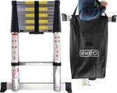 Ekeo Premium - Telescopische Ladder - Inklapbaar Soft-closing - Werkhoogte 3.20M - Inclusief Stabilisatievoet + Gratis luxe opbergtas.