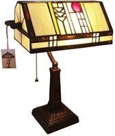 Arcade AL0007 - Bureaulamp - Tiffany lamp