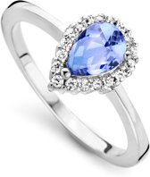 Orphelia ZR-7226/BT/58 Zilver Ring Drop Blue Topaz Color Zirconium
