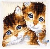 Vervaco borduurkussen Kittens 0150972 | Handwerkkussen, kruissteekkussen