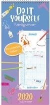 Familieplanner 2020 'Do It Yourself' met stickers (t/m 5 personen)