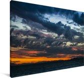 Kleurrijke zonsondergang bij de Whitsundayeilanden Canvas 140x90 cm - Foto print op Canvas schilderij (Wanddecoratie woonkamer / slaapkamer)