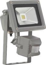 Sensor led floodlight / schijnwerper 10 Watt warm licht