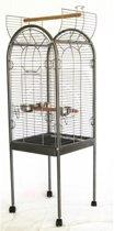 Topmast Papegaaienkooi | Grote Parkieten  Joan antraciet | 55 x 55 x 160 cm