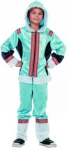 Eskimo Kostuum   Polar Eskimo Blauw   Jongen   Maat 128   Carnaval kostuum   Verkleedkleding