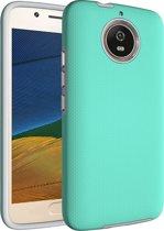 Mobigear Anti-slip Armor Hybride Hoesje Turquoise Motorola Moto G5S