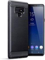 Samsung Galaxy Note 9 hoesje - CaseBoutique - Zwart (Carbon-look) - TPU