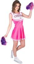 Roze Cheers cheerleader kostuum voor vrouwen - Volwassenen kostuums