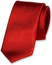 E.L. Cravatte Smalle Stropdas - Rood - 100% Zijde