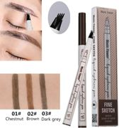 Microblading Eyebrow Tattoo Pen Waterproof Tattoo Wenkbrauw Pen Dark Grey Donker Grijs