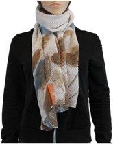 Sjaal 100% Viscose Bruin Multi Color