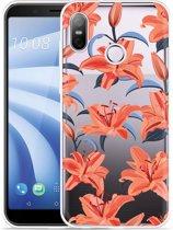HTC U12 Life Hoesje Flowers