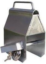 Disselslot - koppelingsslot voor aanhangwagen & paarden trailer - Overdekslot tasmodel - INCLUSIEF hangslot met 2 sleutel