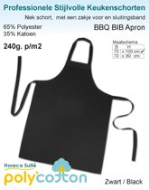 Homéé® Keukenschorten BBQ Apron Zwart 240g. p/m2 - Set van 2 stuks - 70x100cm