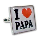 Manchetknopen I Love Papa - Vaderdag