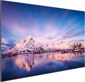 Bergen bij meer Aluminium 120x80 cm - Foto print op Aluminium (metaal wanddecoratie)