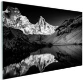 Kedartal  zwart-wit Glas 90x60 cm - Foto print op Glas (Plexiglas wanddecoratie)