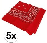 5 rode boeren zakdoek