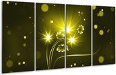 Glasschilderij Modern | Groen, Wit | 160x80cm 4Luik | Foto print op Glas |  F004910