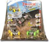Trixx 360 3 Stuntcars (rood/wit/rood) incl. extra grote Stuntramp