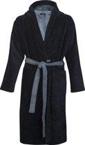 Schiesser heren badjas - blauw/lichtblauw ultralicht -  Maat M