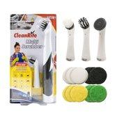 CleanRite Mega Voordeelpakket - Multi Scrubber Incl. Borstels en Schuurpads - Badkamer, Keuken, BBQ, Auto, Fiets en meer!