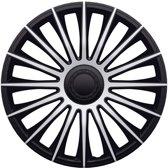 4-Delige J-Tec Wieldoppenset Austin 14-inch zilver/zwart
